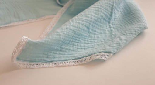 Tetra pokrivač - Svijetlo plavi sa čipkom