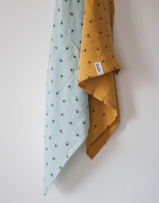 Tetra pokrivač - Oker sa palmama