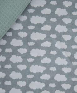 Waffle pokrivač mint i Plahta Fluffy Clouds