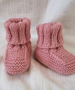 Pletene papučice - Roze