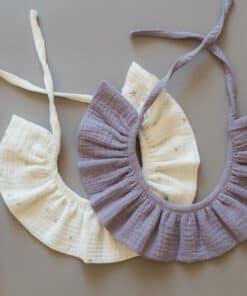 Kragnice za djevojčice - Siva i Bijela sa tačkicama